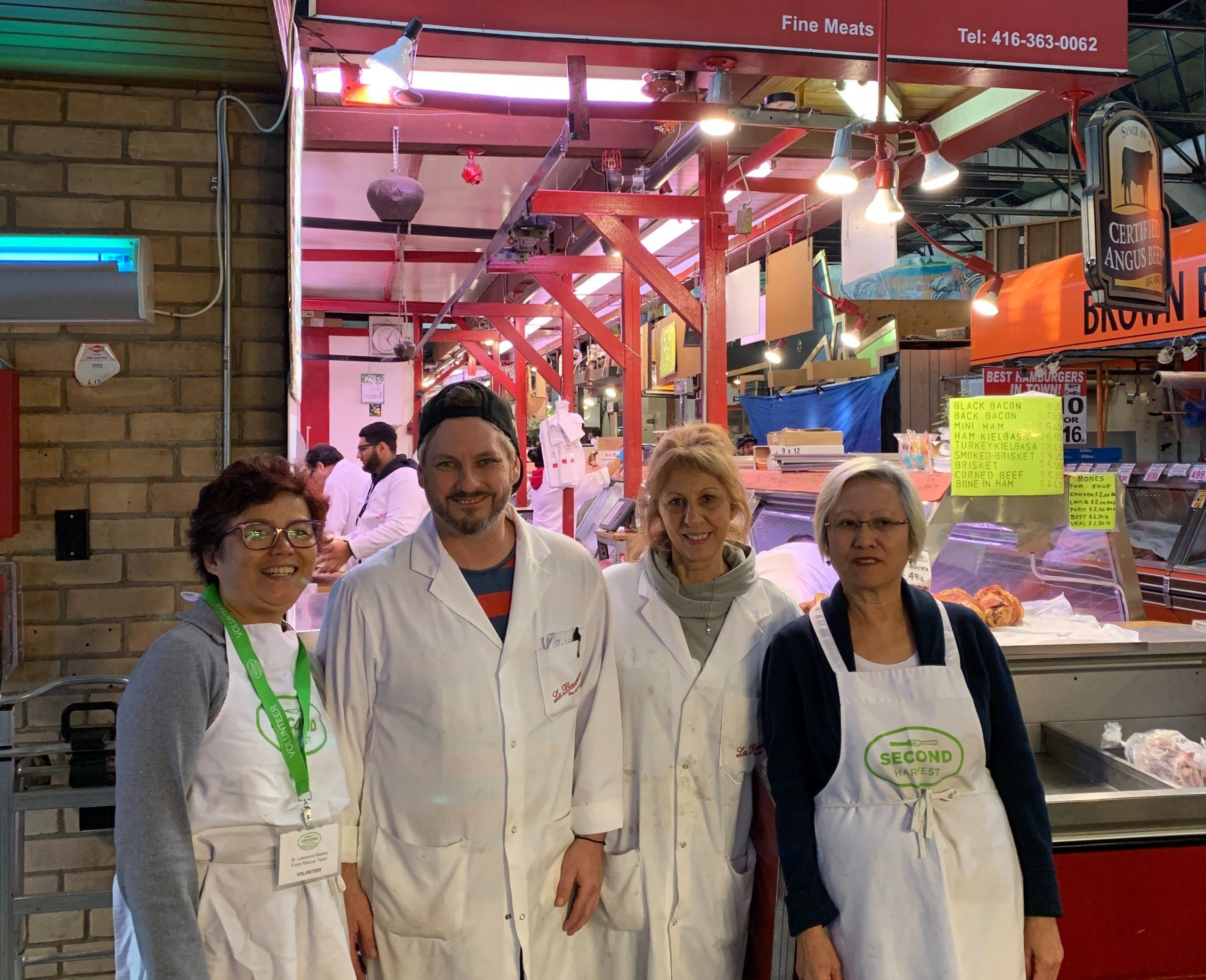 St Lawrence Market food rescue team
